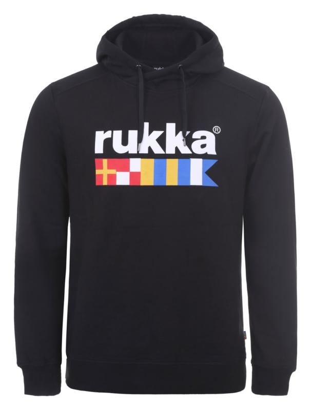 Image of R-CREW HOODY BLACK SMALL
