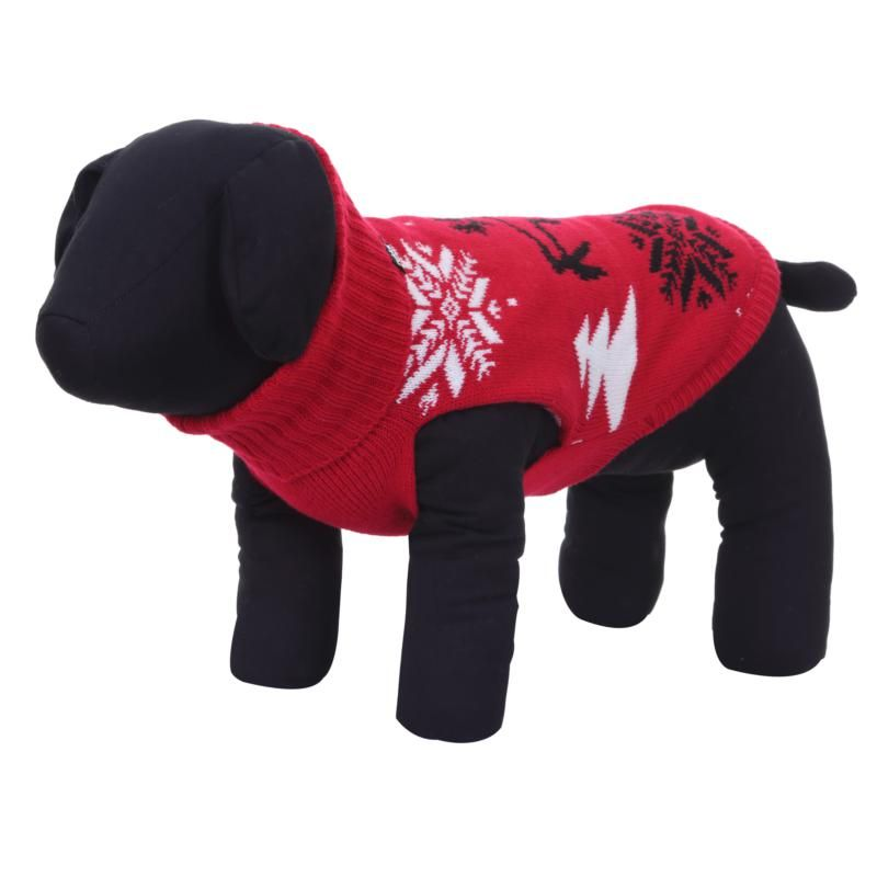 Image of MERRY KNITWEAR RED LARGE